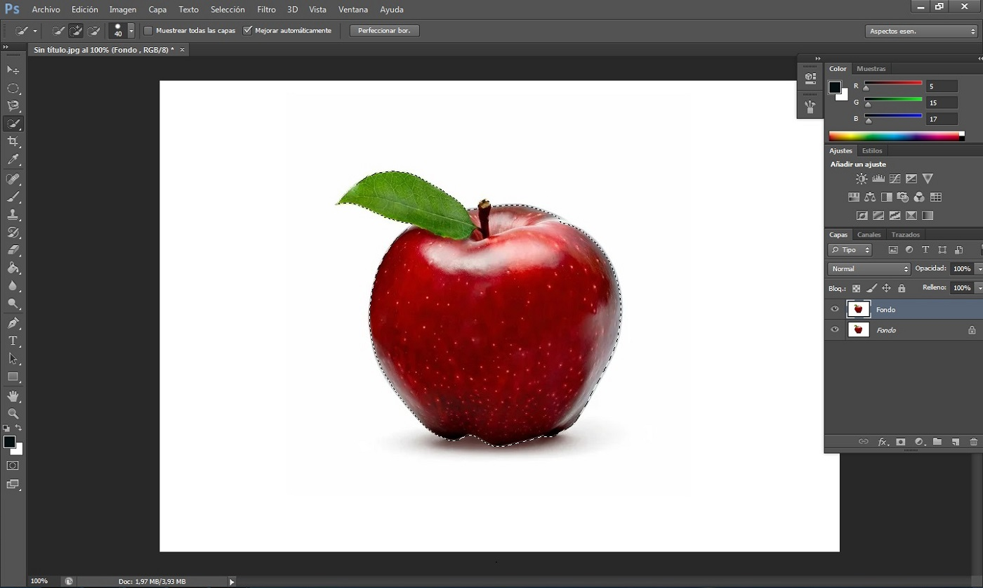 Vectorizar imagen en Photoshop