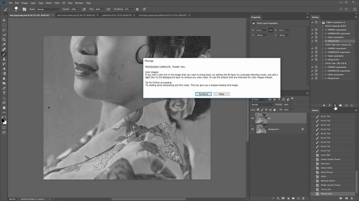 quitar la textura de fotos antiguas con Photoshop