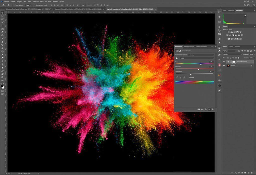usar lineas de colores en photoshop 1